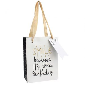 Smile because it's your birthday gift bag