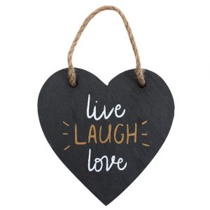 Live Laugh Love Heart Slate Sign
