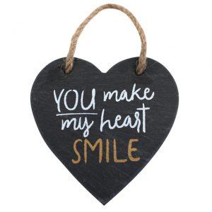 Heart slate sign