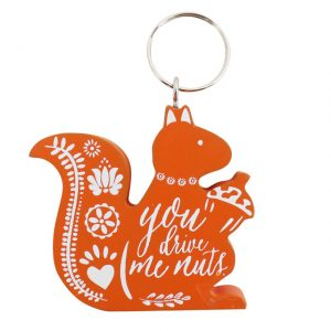 Orange squirrel keyring