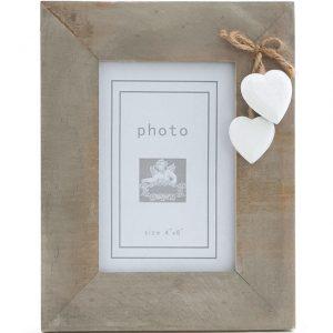 Driftwood Heart Photo Frame