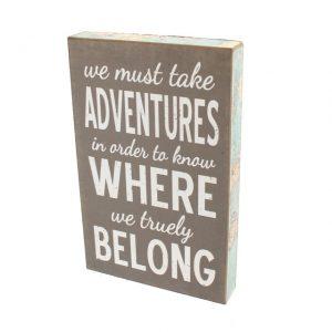 Adventures sign